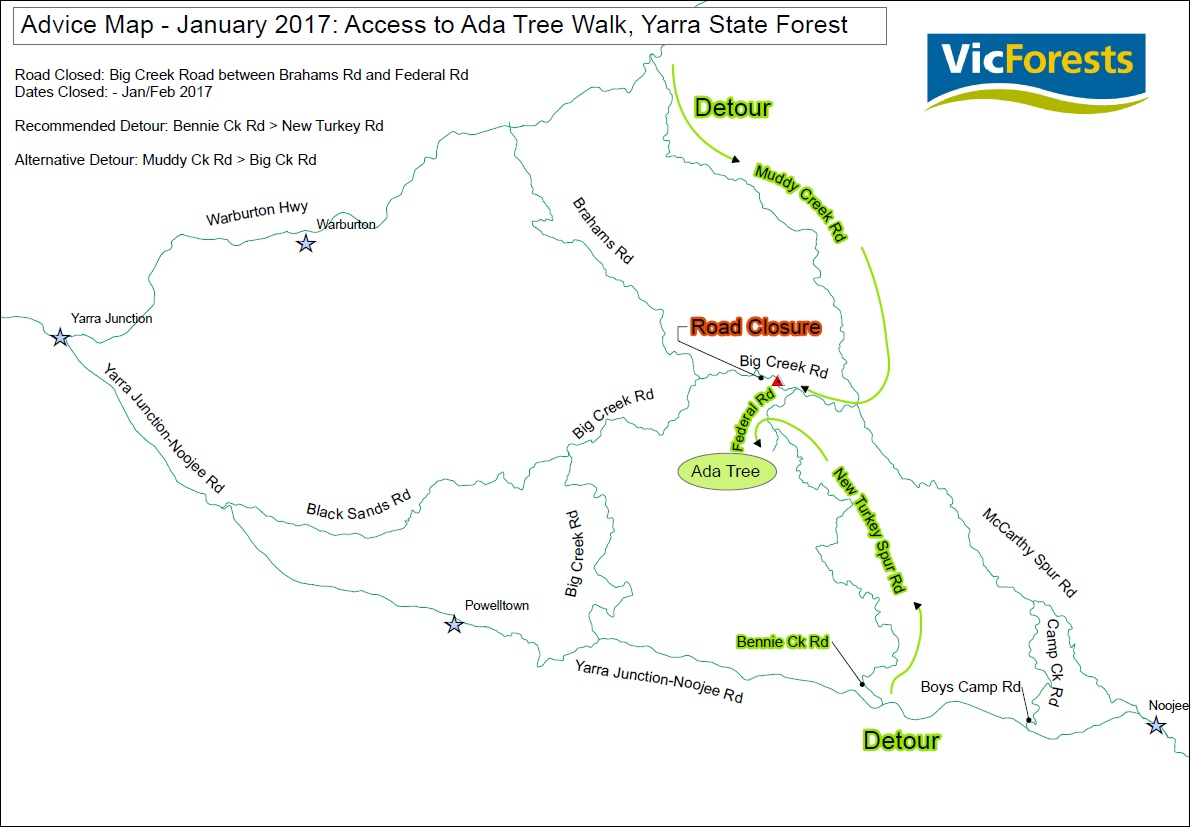 Four Wheel Drive Victoria Detours In Place Yarra State